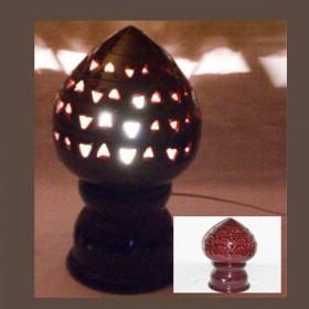 LAMPE MAROCAINE EN POTERIE